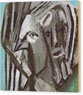 Man And A Bird Wood Print