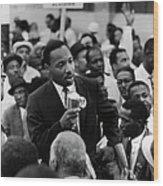 Martin Luther King Jr Wood Print