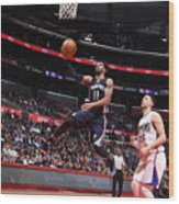 Memphis Grizzlies V Los Angeles Clippers Wood Print