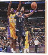 Memphis Grizzlies V Los Angeles Lakers Wood Print