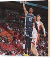 Memphis Grizzlies V Miami Heat Wood Print
