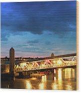 Mersey Ferry Floating Landing Stage Wood Print