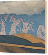 Mesquite Flat Sand Dunes At Sunset Wood Print