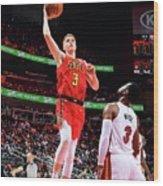 Miami Heat V Atlanta Hawks Wood Print
