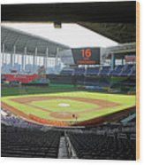 Miami Marlins News Conference Wood Print