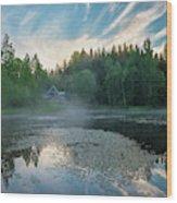 Midsummer's Morning Wood Print