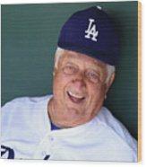 Milwaukee Brewers V Los Angeles Dodgers Wood Print