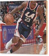 Milwaukee Bucks V La Clippers Wood Print
