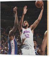 Minnesota Timberwolves V Philadelphia Wood Print