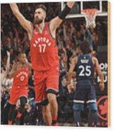 Minnesota Timberwolves V Toronto Raptors Wood Print