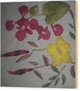 Moms Hand Embroidery Wood Print