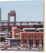 Montreal Expos V Philadelphia Phillies Wood Print
