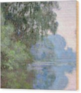 Morning On The Seine Near Giverny, 1897 Wood Print