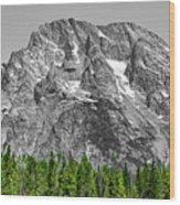 Mountain Rising Wood Print