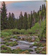 Mountain Spring Wood Print