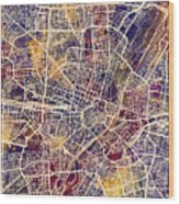 Munich Germany City Map Wood Print