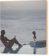 Mustique Tranquility Wood Print