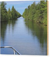 Narrow Cut On The Trent Severn Waterway Wood Print