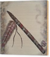 Native American Style  Wood Print