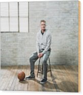 Nba All-star Portraits 2017 Wood Print