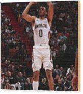 New Orleans Pelicans V Miami Heat Wood Print