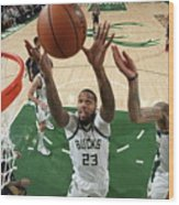 New Orleans Pelicans V Milwaukee Bucks Wood Print