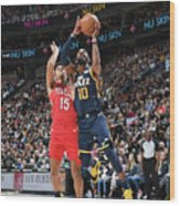 New Orleans Pelicans V Utah Jazz Wood Print