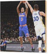 New York Knicks V Golden State Warriors Wood Print