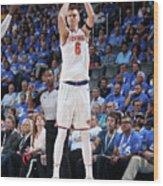 New York Knicks V Oklahoma City Thunder Wood Print