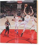 New York Knicks V Portland Trail Blazers Wood Print