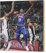 New York Knicks V San Antonio Spurs Wood Print