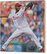New York Mets V Philadelphia Phillies Wood Print