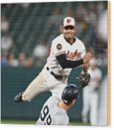 New York Yankees V Baltimore Orioles 1 Wood Print