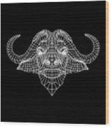 Night Buffalo Wood Print