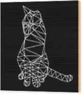 Night Cat Wood Print