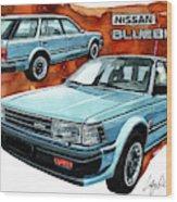 Nissan Bluebird Sw Wood Print