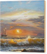 Oil Painting On Canvas , Sailboat Wood Print