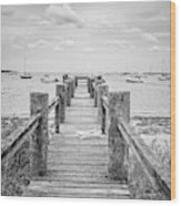 Old Dock Hyannis Port Cape Cod Ma Wood Print