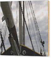 Old Viking Vessel Wood Print