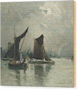 On The Thames  Wood Print