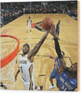 Orlando Magic V New Orleans Pelicans Wood Print