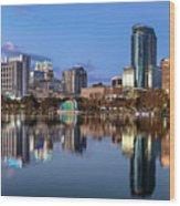 Orlando Skyline Wood Print