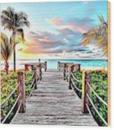 1 Paradise Pier Wood Print