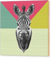 Party Zebra  Wood Print