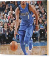 Philadelphia 76ers V Dallas Mavericks Wood Print