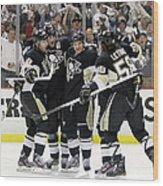 Philadelphia Flyers V Pittsburgh Wood Print