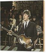 Photo Of Beatles And Paul Mccartney Wood Print