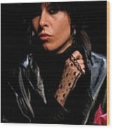 Photo Of Chrissie Hynde And Pretenders Wood Print