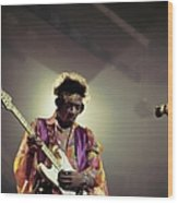 Photo Of Jimi Hendrix Wood Print