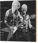 Photo Of Judas Priest And Rob Halford Wood Print